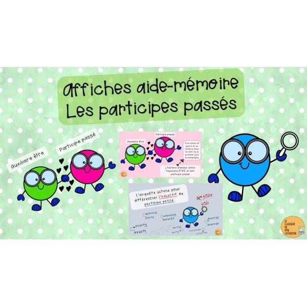 Affiches aide-mémoire : participes passés