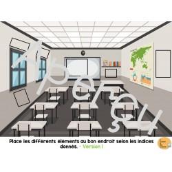 Atelier de lecture et d'organisation spatiale