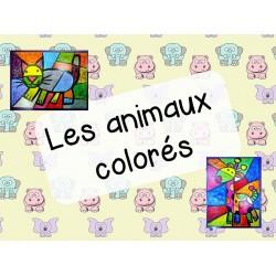 Les animaux colorés - arts plastiques