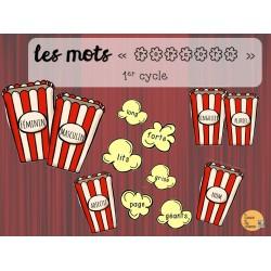 Les mots « popcorn »