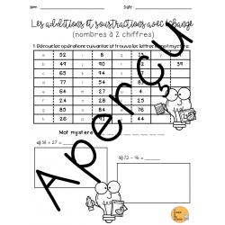 Révision - Additions-soustractions avec échange