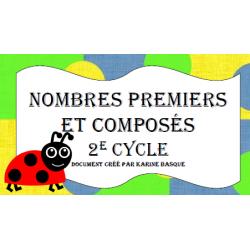 Cartes à tâches - Nombres premiers et composés