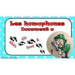 Cartes à tâches - Les homophones