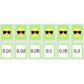 Jeu : fractions, pourcentages, décimaux.