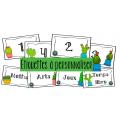 Étiquettes cactus à personnaliser