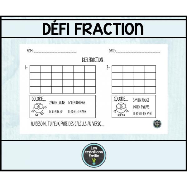 Défi fraction