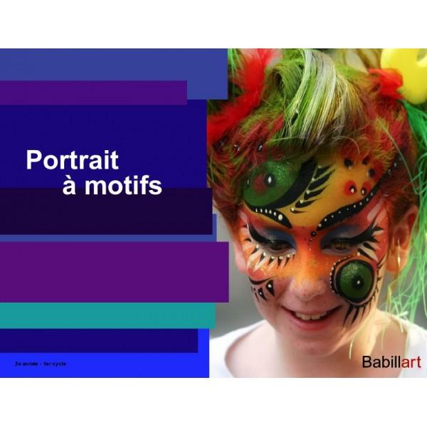 Portrait à motifs