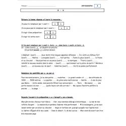 Exercices d'orthographe sur les homophones
