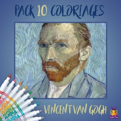 Pack 10 coloriages Vincent Van Gogh