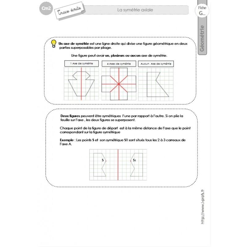 Bien connu Fiches de Géométrie CM2 / 5e année ID54