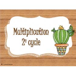 Cartes à tâches, 2e cycle, MULTIPLICATION, cactus