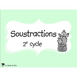 Cartes à tâches, SOUSTRACTIONS, cactus