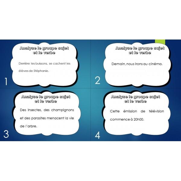 cartes à tâche groupe sujet