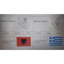 Jeu sur les pays de l'Europe