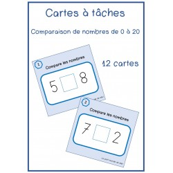 Comparaison des nombres de 0 à 20
