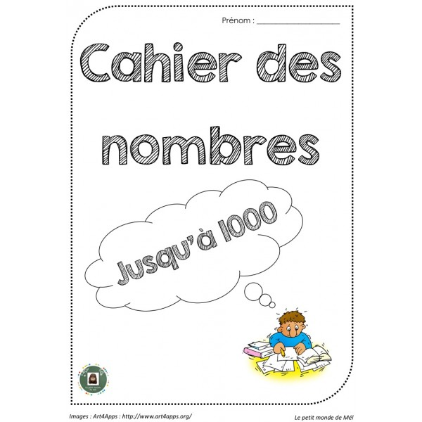 Cahier de nombres jusqu'à 1000