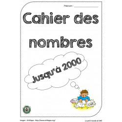 Cahier de nombres jusqu'à 2000