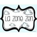 {La Zone Zen} Affiches pour l'autorégulation