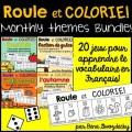 {Roule et Colorie} 20 jeux de vocabulaire ENSEMBLE
