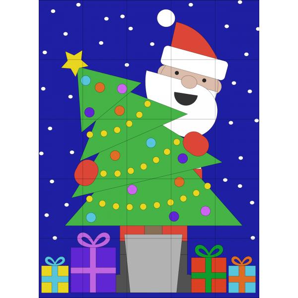Poster mural - sapin de Noël