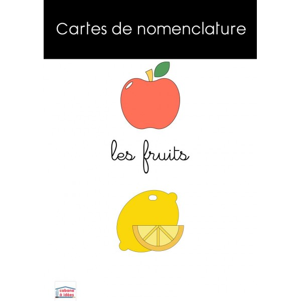 Cartes de nomenclature fruits