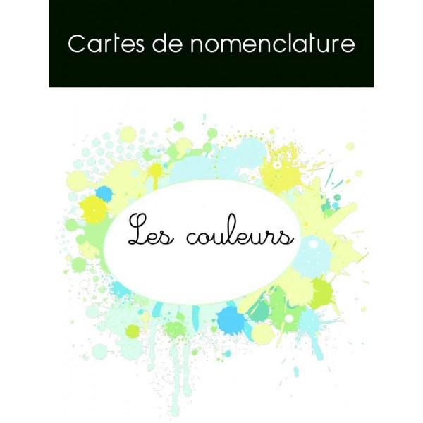 Cartes de nomenclature couleurs
