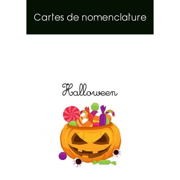 Cartes de nomenclature Halloween