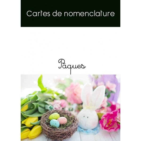 Cartes de nomenclature Pâques (français / anglais)