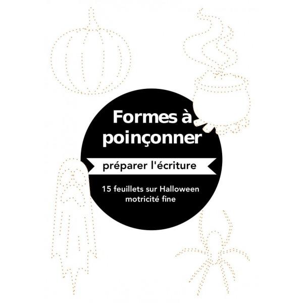 Poinçonnage piquage - Halloween - motricité fine