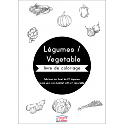 Coloriage Légumes -  français & anglais