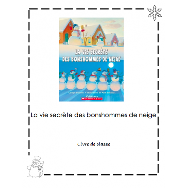 Écriture hiver - bonshommes de neige