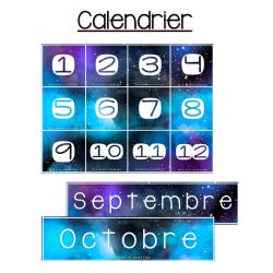 Calendrier - Galaxie