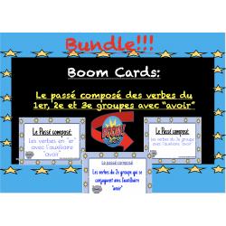 Trousse Boom Cards: Passé composé