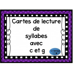 Cartes de lecture de syllabes avec c et g