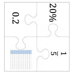 Casse-tête/ Nombres décimaux / fractions