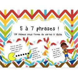 5 à 7 phrases