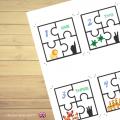 Puzzles des chiffres de 1 à 10 en Anglais