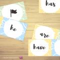 Dominos des verbes avoir et être en Anglais