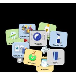 Étiquettes d'identification pour armoires ou bacs