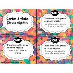 Cartes à tâche: Phrase négative