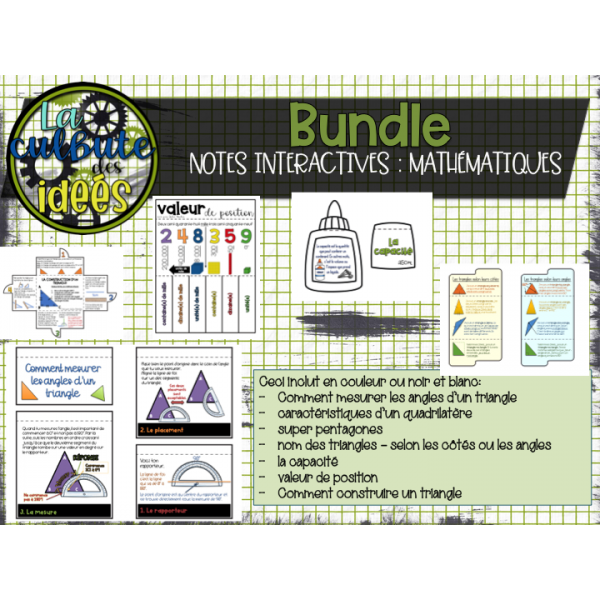 BUNDLE notes interactives math