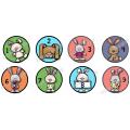 24 Pastilles d'identification de lapins