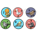 26 pastilles d'identification images d'oiseaux
