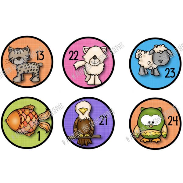 26 pastilles d'identification animaux multiples