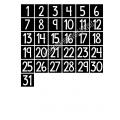 Mensuel flamants version carrés-ronds