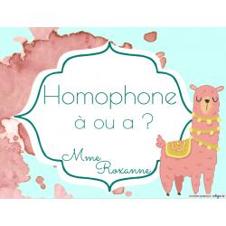 Homophone: a ou à ?
