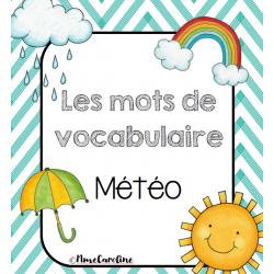 Mots de vocabulaire Météo