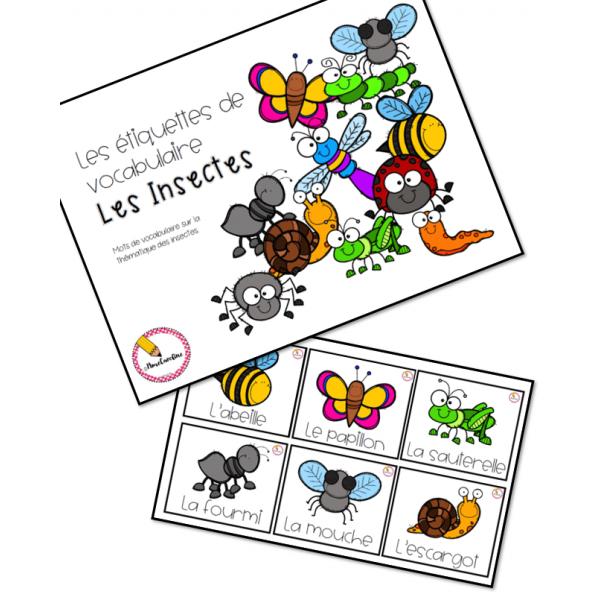 mots étiquettes Insectes (petit format)