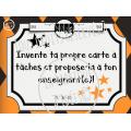 Cartes à tâches Tic-Tac-Toe: extension 1 octobre