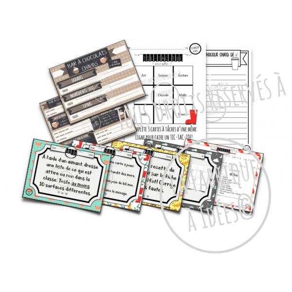 Cartes à tâches Tic-Tac-Toe: extension 2 novembre